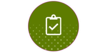 green icon of clipboard